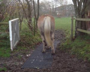 Heavymat, jordarmering, heste sti, undgå mudder